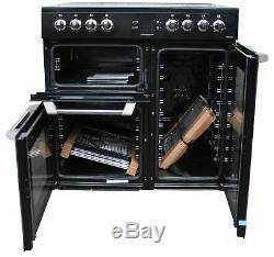 Leisure 90cm Electric Range Cooker Ceramic Hob CS90C530K 3 Ovens Black #1846