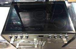 Leisure CK90C230S'Ceramic Hob 90cm Electric Range Cooker-Silver (CK1465)