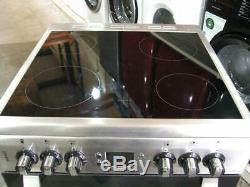 Leisure CS60CRX Stainless Steel Electric Cooker Double Oven 60cm Ceramic Hob PEC