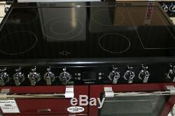 Leisure Cookmaster CK100C210R 100cm Electric Range Cooker Ceramic Hob RED A/A Ra
