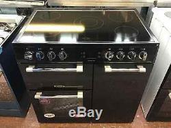 Leisure Cookmaster CK90C230K 90cm Electric Range Cooker Ceramic Hob Black#224488