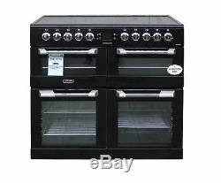 Leisure Electric Range Cooker 100cm CS100C510K Ceramic Hob 3 Ovens Black #2185