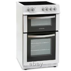 MDC500FW 500mm Double Electric Oven Ceramic Hob Fan Oven White