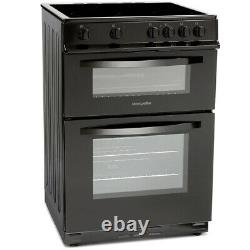 MDC600FK 600mm Double Electric Oven Ceramic Hob Fan Oven Black