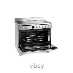 Montpellier 90cm Electric Single Oven Range Cooker With Ceramic Hob Stainless