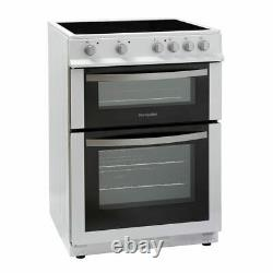 Montpellier MDC600FW 60cm Double Oven Electric Cooker with Ceramic Hob White