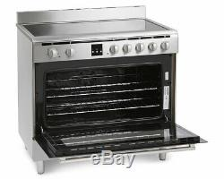 Montpellier MR90CEMX 90cm Electric Range Cooker with Ceramic Hob in St. Steel