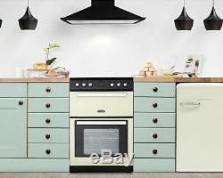 Montpellier RMC61CC Cream 60cm Electric Mini Range Cooker with Ceramic Hob