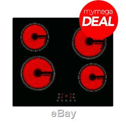 MyAppliances REF29126 60cm Ceramic Touch Control Hob with Timer