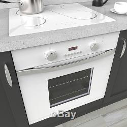 MyAppliances REF50447 60cm White Electric True Fan Oven & 60cm Ceramic Hob Pack
