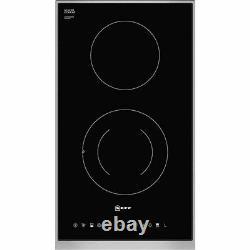 NEFF N13TD26N0 N90 31cm 2 Burners Ceramic Hob Touch Control Black