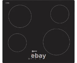 NEFF T10B40X2 N50 59cm 4 Burners Ceramic Hob Touch Control Black