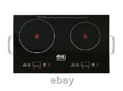 NJ-2B Infrared Double Hob Portable Cooker Ceramic Glass Touch Sensor Cooktop