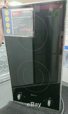 Neff N14K30N2 2 Burner Ceramic Hob-Black electric domino. Was £470.99 now £279