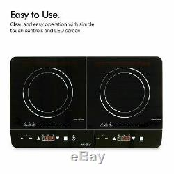 New Induction smart Hob Double Electric Twin Digital Hot Plate Ceramic 2 Ye Warr