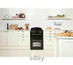 New Leisure CLA60CEK 60cm Electric Double Oven with Ceramic Hob Black COLLECT