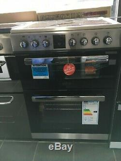 New Unboxed Belling FSE608MFc Electric Cooker with Ceramic Hob 60cm Stainless