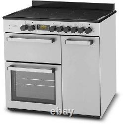 New World 90cm Electric Range Cooker with Ceramic Hob Stainless Steel