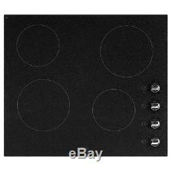 New World NWCR601 Built-in 60cm Wide Electric Ceramic Hob in Granite Black New