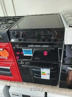 NewithGraded Belling FS50EDOC Electric Cooker with Ceramic Hob Standing 50cm BLACK