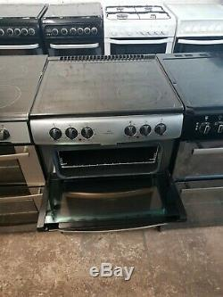 Newworld Double Oven Electric Cooker 60cm Width Stainless Steel Ceramic Hob