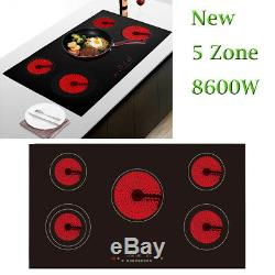 Panana Home 90cm Touch Control 5 Zone Electric Domino Ceramic Hob Cooker 8600W