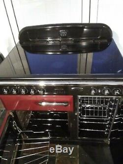 RANGEMASTER Classic 90 Ceramic Cooker, Cranberry/Chrome, excellent condition