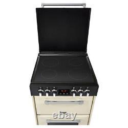 RICH600ECRM 600mm Mini Range Electric Cooker Ceramic Hob Cream