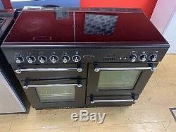 Rangemaster 110 110cm All Electric Ceramic hob RANGE COOKER Black & Chrome