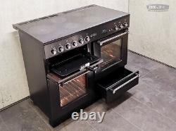 Rangemaster 110 All Electric Ceramic Hob Freestanding RANGE COOKER Black (1L07M)