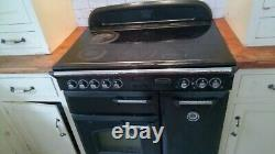 Rangemaster 90 Classic Electric Black, Ceramic Hobs, Two Ovens, Now only £159