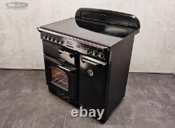 Rangemaster Classic 90 All Electric Ceramic Hob RANGE COOKER Black Chrome (1M02)