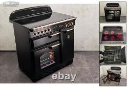 Rangemaster Classic 90 All Electric Ceramic Hob RANGE COOKER Black Gold (1L18M)