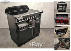 Rangemaster ELAN 90 90cm All Electric Ceramic hob RANGE COOKER Gloss Black (w09)