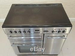 Rangemaster Toledo 90cm All Electric Range Cooker Ceramic Hob In S/steel A200
