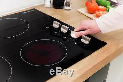 Russell Hobbs RH60EH401B 4 Zone Glass Electric Hob Dial Controls