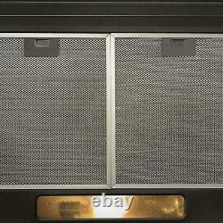 SIA 30cm Black 2 Zone Electric Domino Ceramic Hob & 50cm Visor Cooker Hood Fan