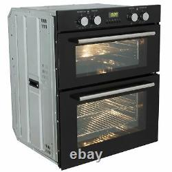 SIA 60cm Double Electric Oven, 4 Zone Touch Control Ceramic Hob And Chimney Hood