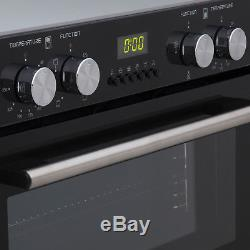SIA Built Under Double Electric Fan Oven and 60cm 4 Zone Ceramic Electric Hob