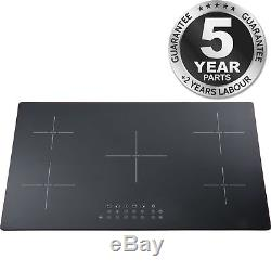 SIA INDH95BL 90cm 5 Zone Black Touch Control Electric Induction Hob
