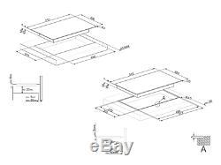SMEG SE332EB TOUCH CONTROL 2-ZONE CERAMIC HOB 30cm BLACK