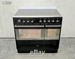 Smeg SUK92CBL9 90cm Double Electric Range Cooker with Ceramic Hob in Black (x01)