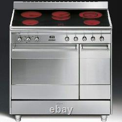 Smeg SUK92CMX9 Concert Double Oven 90cm Electric Range Cooker With Ceramic Hob