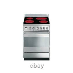 Smeg SY6CPX8 Symphony 60cm Single Oven Electric Cooker with Ceramic Hob Stainl