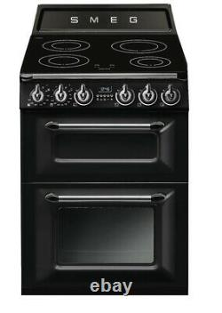 Smeg TR62IBL Victoria Free Standing A/A Electric Cooker with Induction Hob 60cm