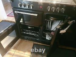 Stoves Richmond 900E Electric Cooker with Ceramic Hob black/chrome