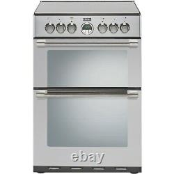 Stoves Sterling 600E 60cm Double Oven Electric Cooker with Ceramic Hob Stainle
