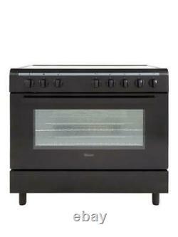 Swan SX2050B, 90cm Electric Cooker, Vitro Cermaic Hob