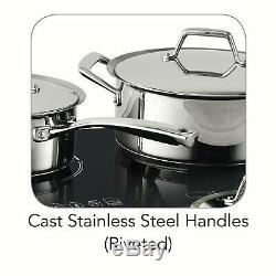 Tramontina 8-Piece Double Hob Induction Cooking System cooktop FAST FREE SHIP
