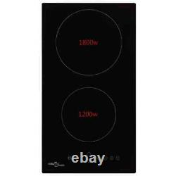 VidaXL Ceramic Hob with 2 Burners Touch Control 3000W Kitchen Built-in Zone C